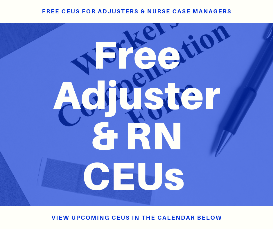 Free Adjuster & RN CEUs