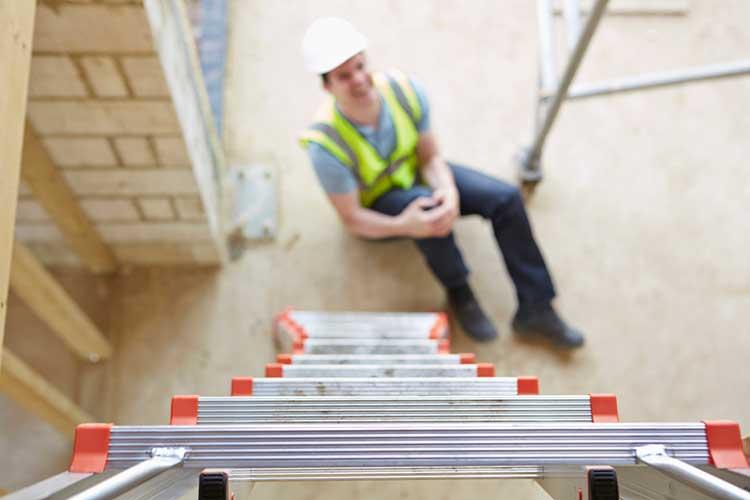 work injury worker fell off a ladder